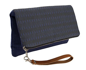 mid nite blue fold over_evening clutch p