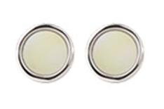 touch Of Cream Round Cufflinks.png