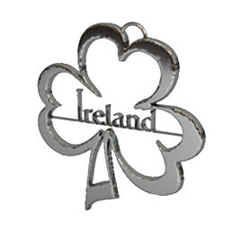 ireland clover pendant polished silver.j