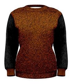 tiger grey demin safari sweat shirt (1a)