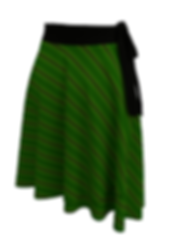 african diagonal green flower wrap skirt
