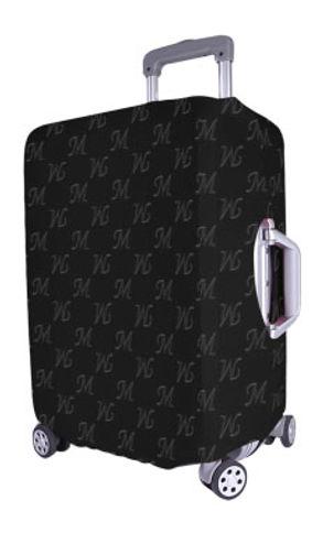 mud-di signature upsidedown black luggag