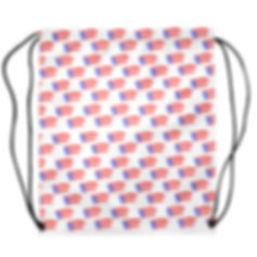 puerto rican flags white drawstring bag