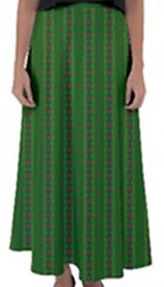 african-green-diagonal-flared-maxi-skirt