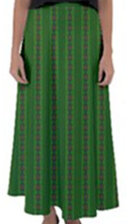 african-green-diagonal-flared-maxi-skirt
