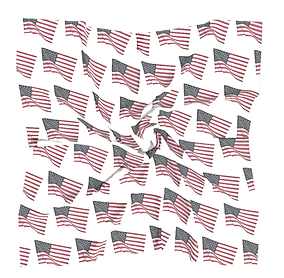 flapping american flags square scarf (2)