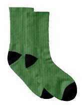 african diagonal green flowers socks (2)