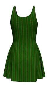 african diagonal green flower flare dres