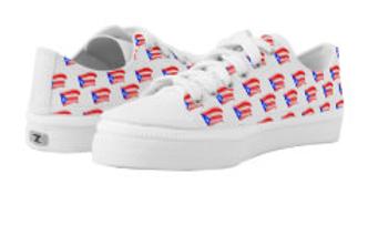 puerto rican flags white zip sneakers (5