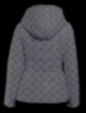 mud-di signature smoky gray hooded puffe