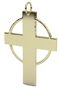 hallow circle cross pendant 14k yg.png
