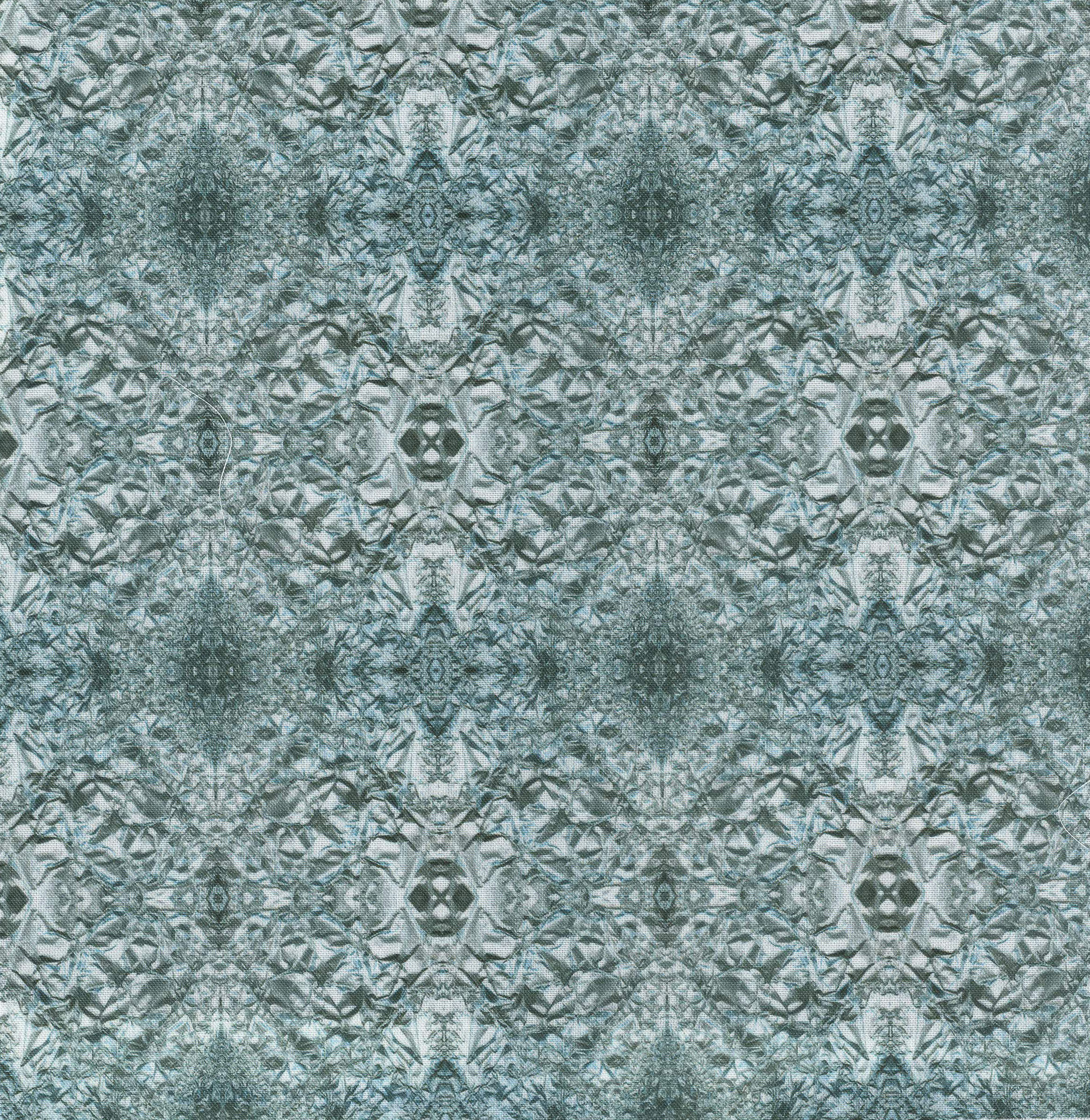 silver foil fabric scan