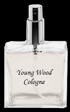 young wood cologne bottle labeled icon.j