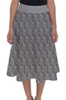 Gray Splashes Length Midi Skirt.jpg