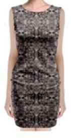 coli copper sleeveless velvet midi dress