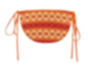 orange_flower_diamond_custom_bikini_swim