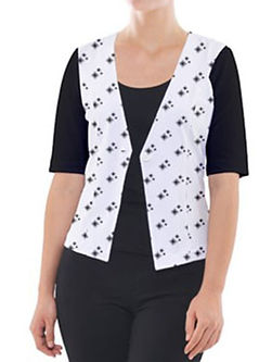 reversed diamond shapes cropped button-c