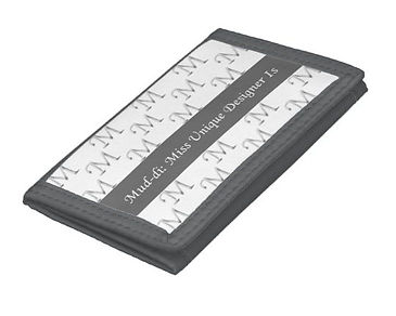 mud-di signature gray tri fold wallet.jp