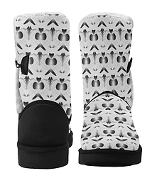 aced butterfly single button snow boots