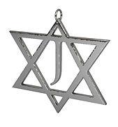 jewish star pendant fine polished silver