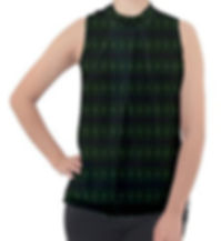 green glass kaleidoscope mock neck chiff