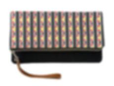kente stripes fold over clutch purse (1)