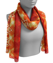 orange diamond flower long scarf.jpg