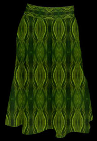 stain glass green perfect length midi sk