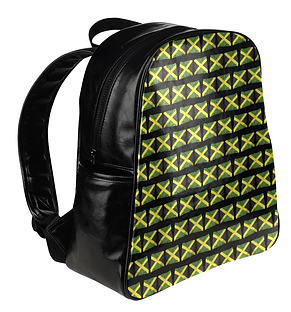 jamaican flags multi-pockets backpack (3