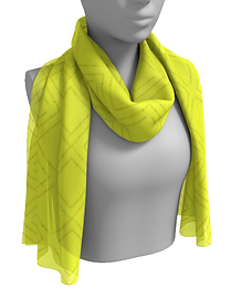 brite yellow diamond squares long scarf