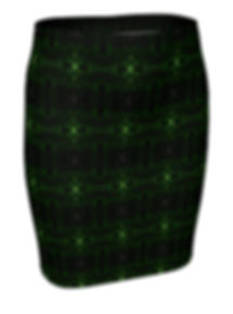 green glass kaleidoscope mini skirt ().j