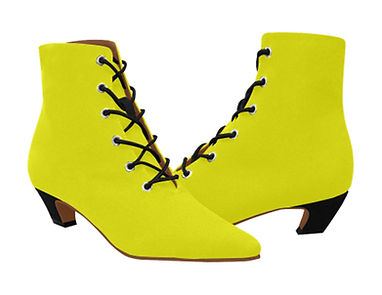 yellow_women_s_pointed_toe_low_heel_boot