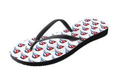 cuban flapping flags white flip flops (2