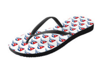 cuban flapping flags white flip flops (2
