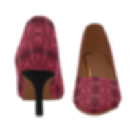 red puddle diamonds pointed toe low heel