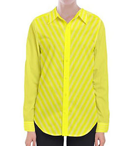 brite yellow faded white lines long slee