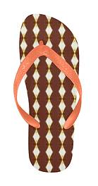 african cream diamond orange strap flip