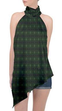 green glass kaleidoscope halter asymmetr