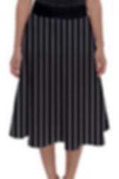 fades stripes Perfect Length midi skirt.