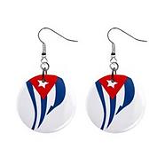 cuban flapping down flag mini button ear