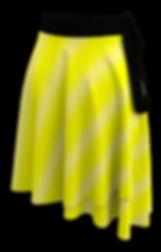 bright yellow fade white lines wrap skirt (1).jpg