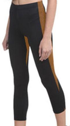 black tiger pebbles center capri legging
