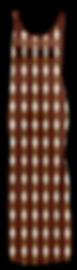 African Cream Diamond Maxi Thigh Split D