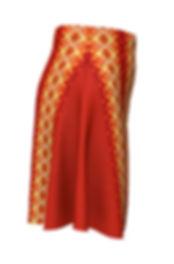 Orange Flower Diamond Orange flare skirt