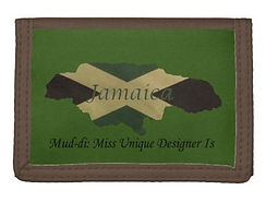 jamaican flag outine map green fold over