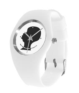 black silhouette white silicone watch.pn