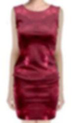 Red Puddle Diamonds Sleeveless Velvet Mi