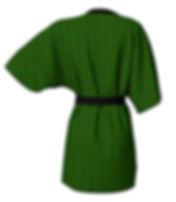 african diagonal green flower  kimono ro