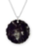 purple smoke globe necklace circle charm