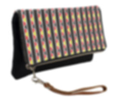 kente stripes fold over clutch purse (3)